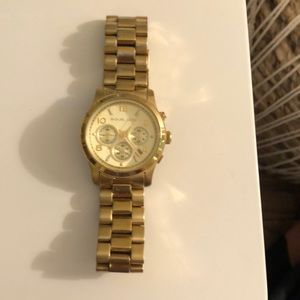 Michael Kors Women's Runway Gold-Tone Watch